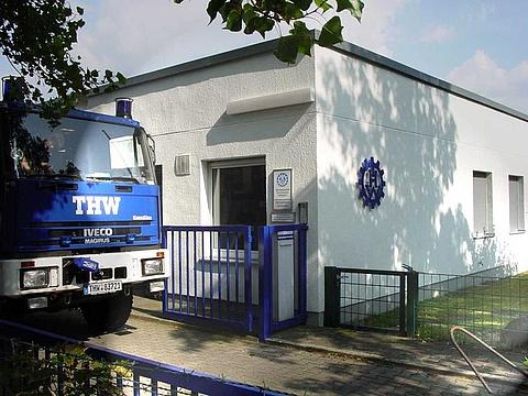 Die Einfahrt und das Gebäude des Ortsverbandes